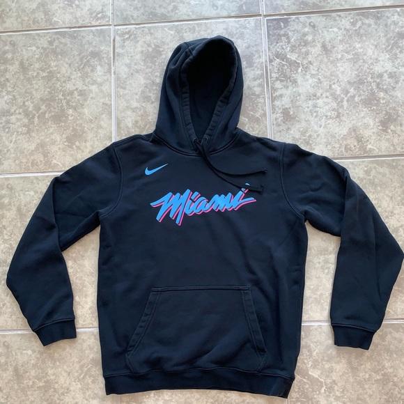 Nike Men's Miami Heat Dri FIT City Edition Pullover Hoodie